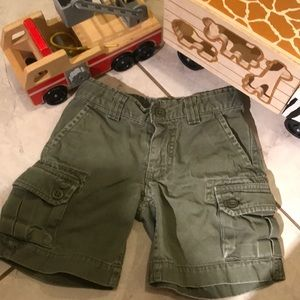 Kids Sz 3T Polo Army Green Cargo Shorts